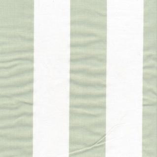 AU Maison Wachstuch Stripe Giant Dusty Mint Meterware Tischdecke Abwaschbar 140 cm