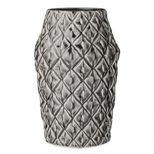 Bloomingville Vase Square Struktur 26 cm Blumenvase Muster viereckig