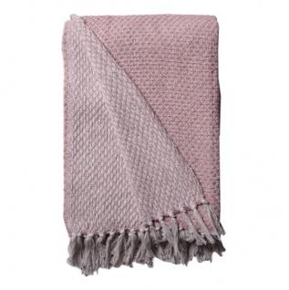 AU Maison Decke Rosa Weiß Baumwolle Plaid 130x180 Wolldecke Kuscheldecke