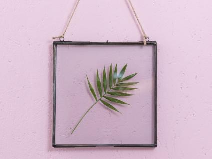 A Simple Mess Fotorahmen ASTA Bilderrahmen Metall Glas beidseitig 25x25 cm