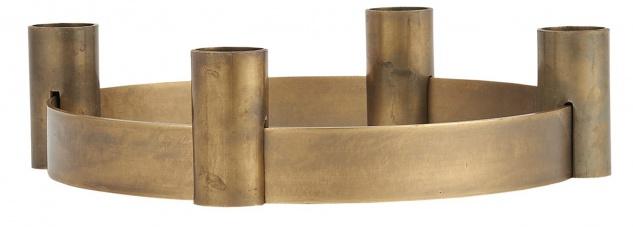 IB Laursen Kerzenhalter ADVENT Gold verschiebbare Halter Kerzenständer Metall