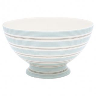 Greengate Schale TOVA Blau Weiß Streifen Porzellan Geschirr Suppenschale 500 ml