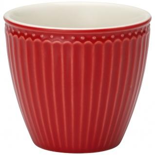Greengate Latte Cup Becher ALICE Rot Kaffeebecher Everyday Geschirr Serie 300 ml