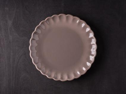 IB Laursen MYNTE Kuchenteller Braun Keramik Teller 21 cm MILKY BROWN Geschirr