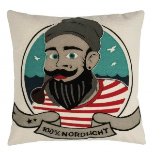 Pad Kissen Sailor natur 100% Nordlicht Pad Concept Kissenhülle 45x45 Kissenbezug
