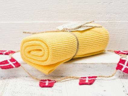 Solwang Küchentuch WARM GELB gestrickt Putztuch Handtuch Geschirrtuch Gästetuch