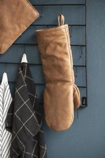 IB Laursen BBQ Ofenhandschuh Leder Braun für Grill und Küche 15x34 cm Topflappen