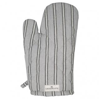 Greengate Ofenhandschuh RILEY Grau mit Streifen Grill Handschuh BBQ Handschuh