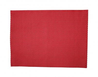 Krasilnikoff Tischset PUNKTE Rot Baumwolle Platzset Rot Weiß gepunktet
