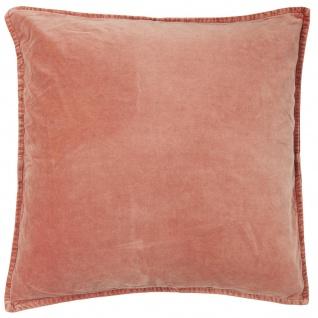 IB Laursen Kissenhülle Samt Desert Rose Rosa Kissen 50x50 Kissenbezug Zierkissen
