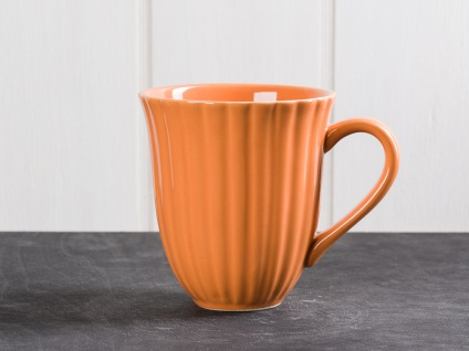 IB Laursen MYNTE Becher Rillen Orange PUMPKIN SPICE Keramik Geschirr Tasse 250ml