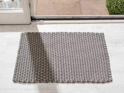 Pad In / Outdoor Matte POOL grau beige 52x72 Fussmatte Badezimmermatte Teppich