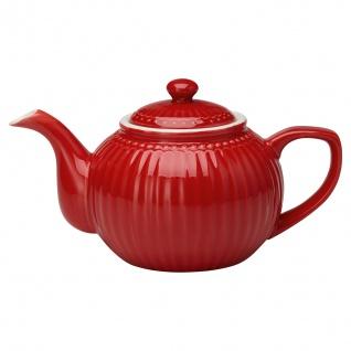 Greengate Teekanne ALICE Rot Kanne 1 Liter Everyday Geschirr Teapot RED