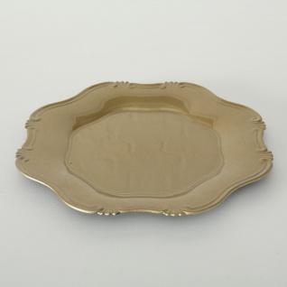 Platzteller Vintage Design Gold Kunststoff 34 cm Deko Teller Servier Tablett