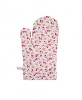 Krasilnikoff Ofenhandschuh ROMANTIK BLUME Rosa pink Blumen bunt