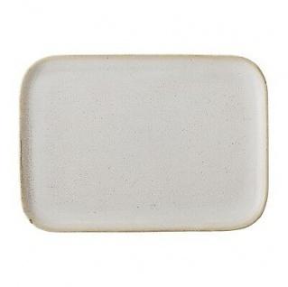 Bloomingville Servierplatte Carrie eckig 25 cm Servierschale Keramik creme beige
