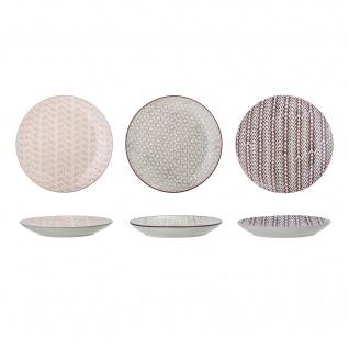 Bloomingville Kuchenteller MAYA 3er Set Keramik Teller 20 cm Geschirr