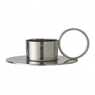 Bloomingville Votive Kerzenhalter silber mit Ring Teelichthalter Kerzenständer