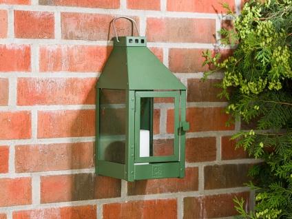 A2 Living Allwetter Wandlaterne Grün 36 cm Metall Outdoor Laterne wetterfest