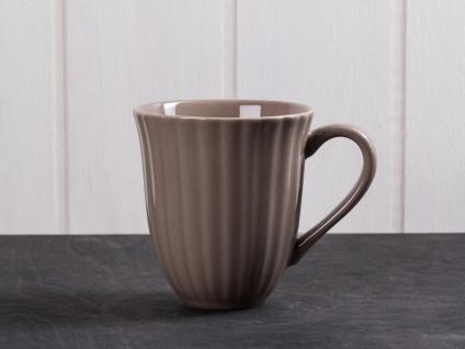 IB Laursen MYNTE Becher Rillen Braun MILKY BROWN Keramik Geschirr Tasse 250 ml