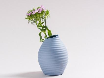 Vase SMILE blau 13.5 cm Blumenvase Keramik skandinavische Deko Tischdeko - Vorschau 2