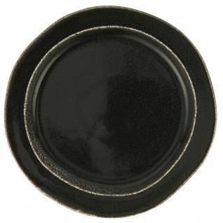 IB Laursen Frühstücksteller DUNES Schwarz ANTIQUE BLACK Keramik Teller 22 cm