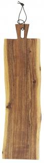 IB Laursen Tapasbrett UNIKA Akazienholz 60 cm Schneidebrett Servierbrett