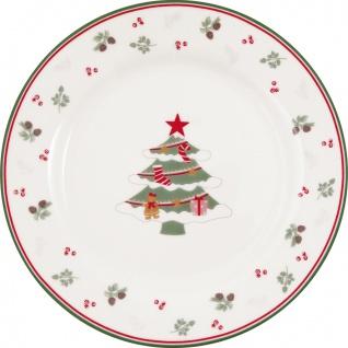 Greengate Teller CHARLINE XMAS 20 cm Porzellan Kuchenteller Dessertteller