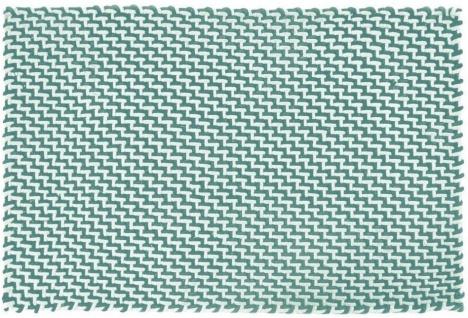 Pad Outdoor Teppich POOL Opal Türkis / Weiß 140x200 Badezimmer Design Badematte