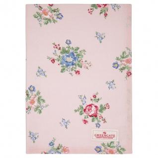 Greengate Geschirrtuch ROBERTA Rosa Blumen Baumwolle 50x70 Küchentuch