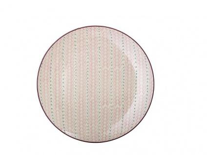 Bloomingville Essteller MAYA Keramik Teller 28 cm Geschirr rosa Speiseteller