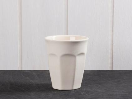 IB Laursen MYNTE Cafe Latte Becher Creme Weiß Keramik Geschirr BUTTER CREAM 250m