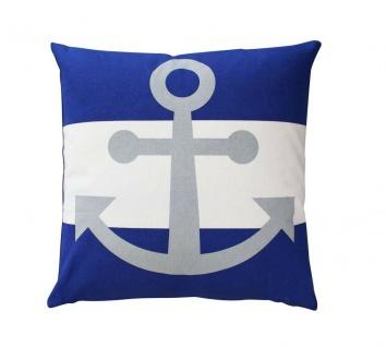 Kissen LIEGEPLATZ blau gestreift 25x40cm Maritim Bezug 100 /% Baumwolle LaVida