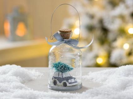 Weihnachtsbaum Hänger Schneekugel Auto Baum grau Weihnachtsdeko Tannenbaumschmuc