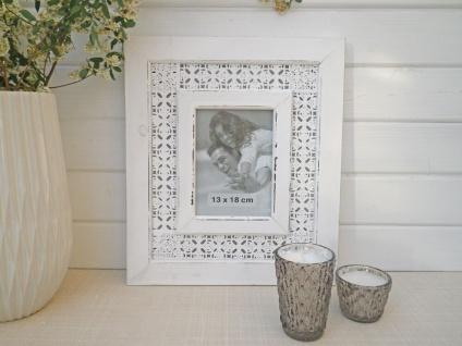 Bilderrahmen Nancy in weiß für 1 Foto 13 x 18. Romantik Vintage Look - Vorschau 4