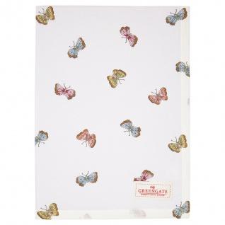 Greengate Geschirrtuch MAISIE Weiß Schmetterlinge Baumwolle 50x70 Küchentuch