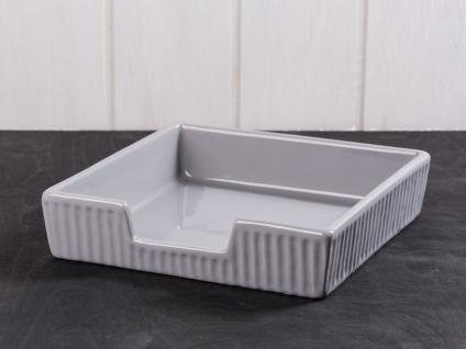 IB Laursen MYNTE Serviettenhalter Grau Keramik Geschirr FRENCH GREY Halter 19x19 - Vorschau 1