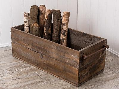 IB Laursen Holzkiste mit Metall Henkel groß Aufbewahrung Box Holz
