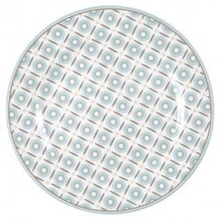 Greengate Teller ALVA Weiß Blau 20 cm Porzellan Geschirr Kuchenteller