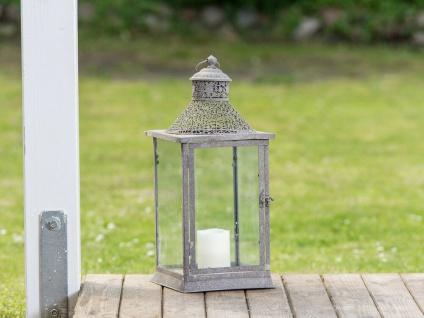 Laterne CELINE 52 cm Gartenlaterne Metall Windlicht Vintage Antik Design Rost
