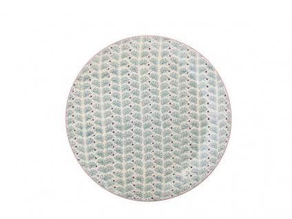 Bloomingville Essteller MAYA Keramik Teller 28 cm Geschirr türkis Speiseteller