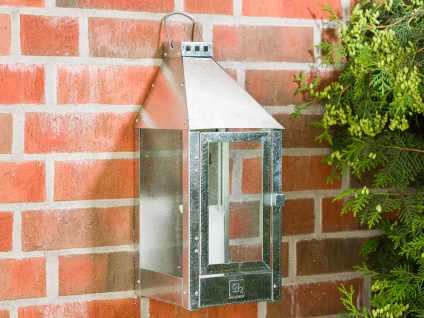A2 Living Allwetter Wandlaterne Verzinkt 45 cm Metall Outdoor Laterne wetterfest