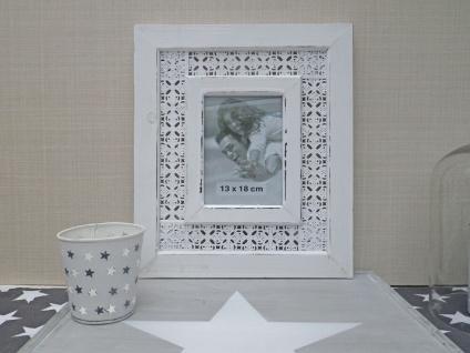 Bilderrahmen Nancy in weiß für 1 Foto 13 x 18. Romantik Vintage Look - Vorschau 2