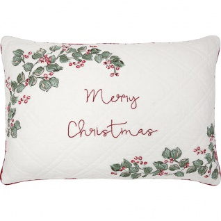 Greengate Kissen MERRY CHRISTMAS 40x60 Kissenhülle Kissenbezug Blumen Baumwolle