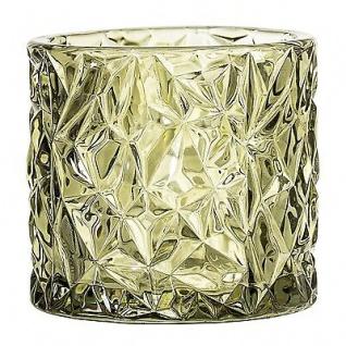 Bloomingville Windlicht Glas Votive grün 8 cm Teelichtglas Teelichthalter Kerzen