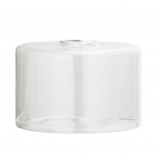 Bloomingville Vase Glas Zylinder Weiß Klar Rund 6x10 cm Blumenvase Deko Hochzeit