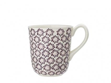 Bloomingville Becher MAYA rot Keramik Geschirr Tasse 360 ml Kaffeebecher Design