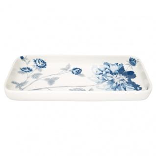 Greengate Tablett Teller CHARLOTTE Weiß Eckig Porzellan Geschirr Kuchenteller