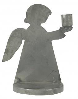 IB Laursen Kerzenhalter ENGEL Zink Grau Kerzenständer Metall Rund 11 cm