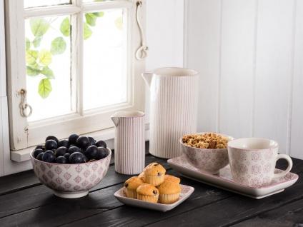 IB Laursen Kanne Casablanca lila weiß 0.2 Liter Streifen Geschirr Milchkännchen - Vorschau 4